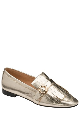 Ravel Gold Loafers