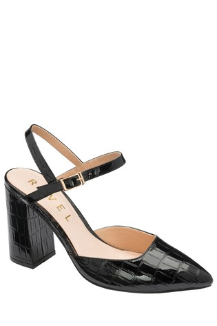 Ravel Black Court Shoes