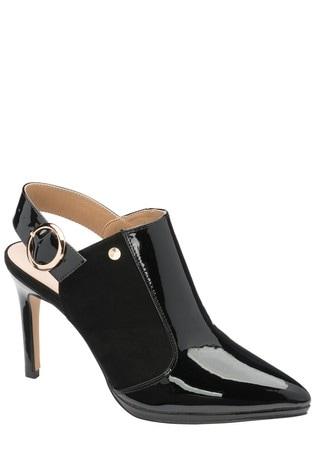 Ravel Black Slingback Court Shoes