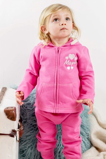 Personalised Organic Cotton Baby Tracksuit With Star By Percy & Nell