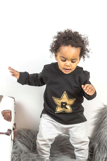 Personalised Organic Cotton Star Sweatshirt By Percy & Nell