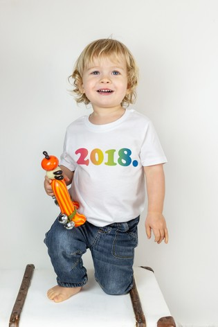 Percy & Nell Personalised Year Of Birth Organic T- shirt