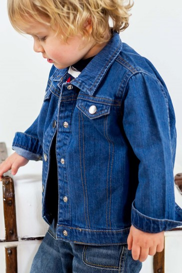 Personalised Organic Denim Jacket By Percy & Nell