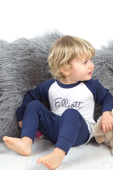 Personalised Organic Cotton Baby and Toddler's Pyjamas By Percy & Nell