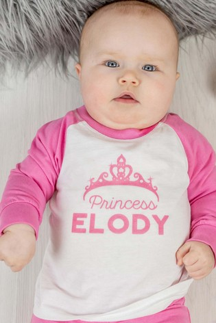 Personalised Organic Cotton Crown Baby and Toddler's Pyjamas by Percy & Nell