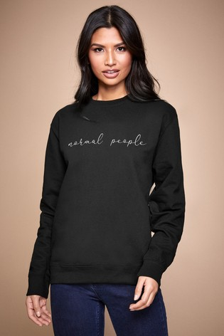 Personalised Black Normal People Women's Sweatshirt by Instajunction