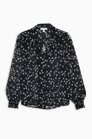 Topshop Flock Daisy Shirt
