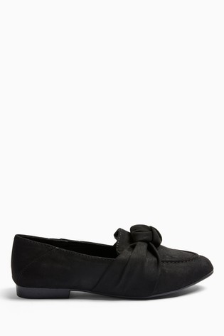 Topshop Wide Fit Ayla Knot Loafers
