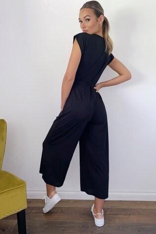 Quiz Ribbed Culotte Jumpsuit