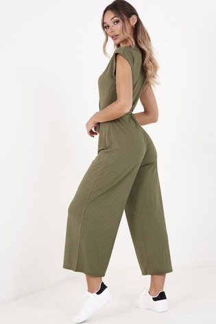 Quiz Ribbed Culotte Jumpsuit
