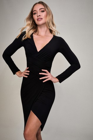 Lipsy Black Slinky Midi Dress