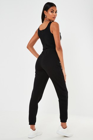 Missguided Scoop Neck Loopback Jogger Cuff Jumpsuit