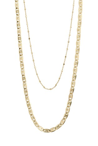 Pilgrim Gold  Intuition Set Of Two Plated Necklaces
