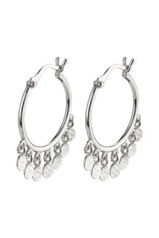 PILGRIM Silver Panna Plated Hoop Earrings