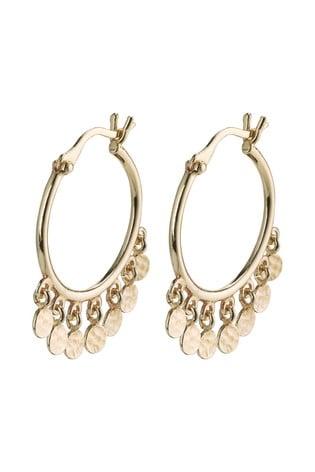 PILGRIM Gold Panna Plated Hoop Earrings