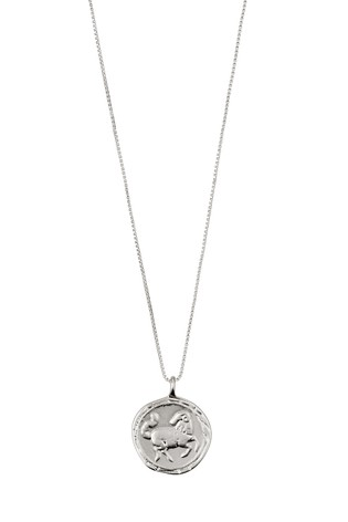 Pilgrim Aries Zodiac Sign Silver Plated Necklace