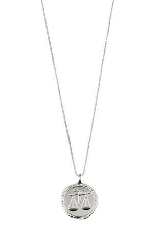 Pilgrim Libra Zodiac Sign Silver Plated Necklace