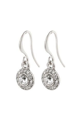 PILGRIM Silver Clementine Plated Halo Earrings