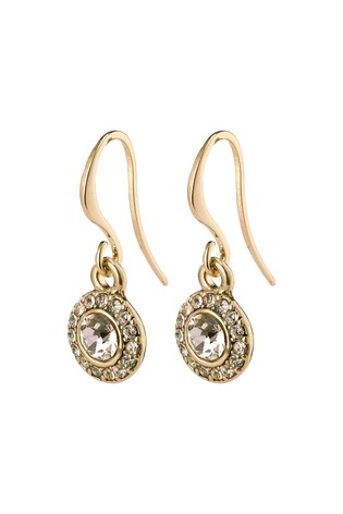PILGRIM Gold Clementine Plated Halo Earrings