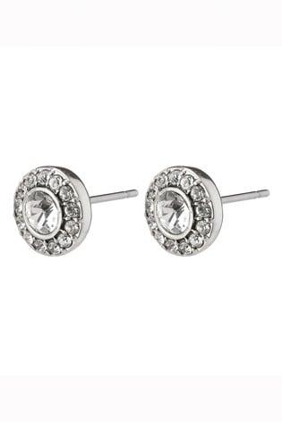 PILGRIM Silver Clementine Plated Stud Earrings