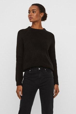 Vero Moda Black Round Neck Knitted Jumper