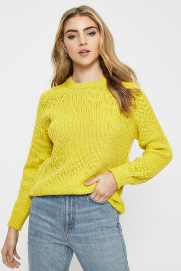 Vero Moda Yellow Round Neck Knitted Jumper