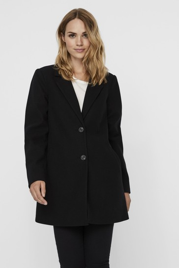 Vero Moda Black Tailored Coat