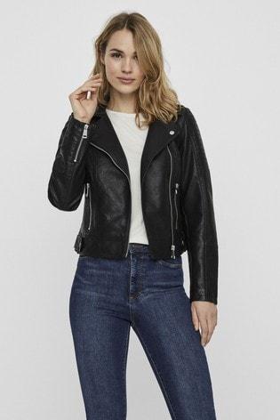 Vero Moda Black Faux Leather Jacket
