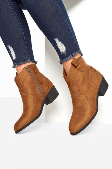 Yours Brown Angel Western Ankle Boot