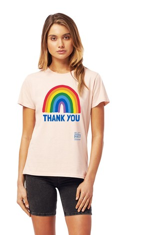 Little Mistress x Pink Kindred Rainbow Thank You NHS Women's T-Shirt by Instajunction