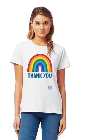 Little Mistress x White Kindred Rainbow Thank You NHS Women's T-Shirt by Instajunction