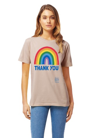 Little Mistress x Pink Kindred Rainbow Thank You NHS Unisex T-Shirt by Instajunction