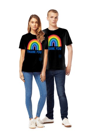 Little Mistress x Black Kindred Rainbow Thank You NHS Unisex T-Shirt by Instajunction