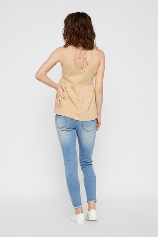 Mamalicious Maternity Jersey Button Through Top