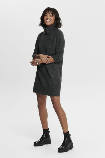 Only Roll Neck Knit Jumper Dress
