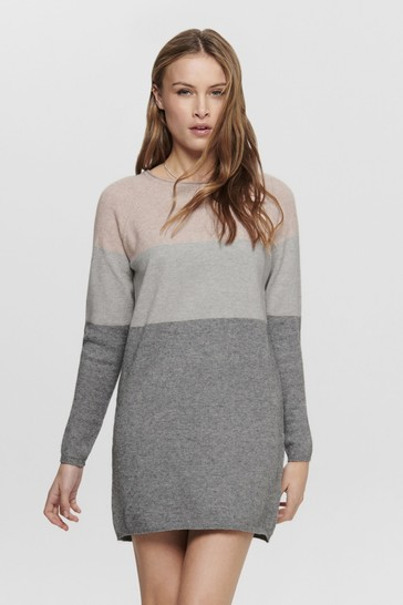 Only Colour Block Knitted Jumper Dress