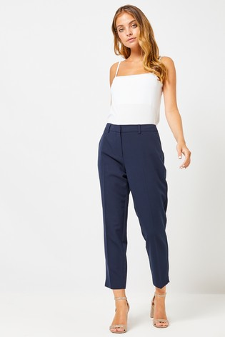 Dorothy Perkins Navy Naples Ankle Grazer Trousers