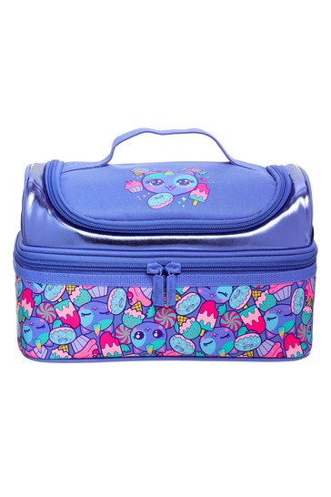 Smiggle Purple Budz Double Decker Lunchbox