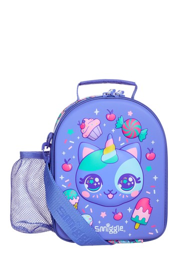 Smiggle Purple Budz Hardtop Lunchbox With Strap