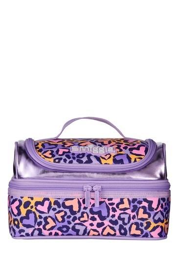Smiggle Purple Flow Double Decker Lunchbox