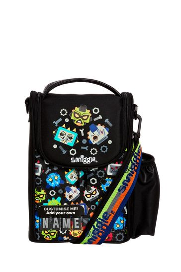 Smiggle Black Cheer Junior ID Lunchbox With Strap