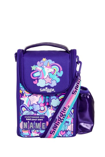 Smiggle Purple Cheer Junior ID Lunchbox With Strap