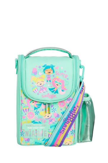 Smiggle Green Cheer Junior ID Lunchbox With Strap