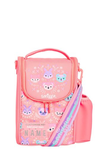 Smiggle Pink Cheer Junior ID Lunchbox With Strap