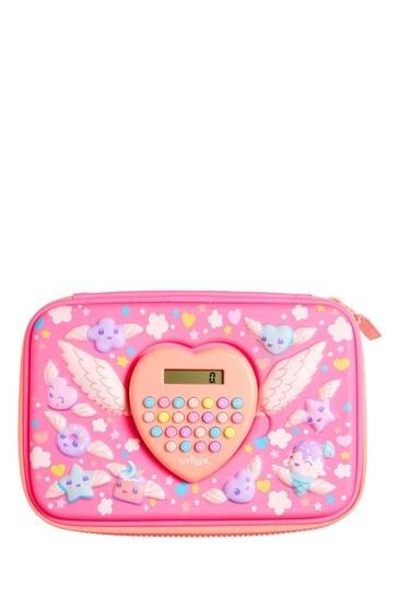 Smiggle Pink Calculator Hardtop Pencil Case
