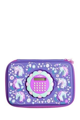 Smiggle Purple Calculator Hardtop Pencil Case
