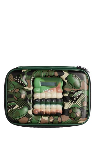 Smiggle Green Calculator Hardtop Pencil Case