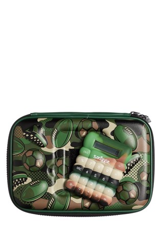 Smiggle Green Calculator Hardtop Pencil Case