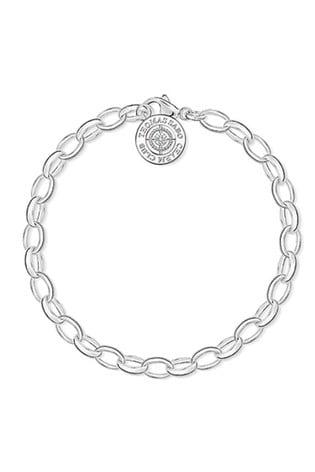 Thomas Sabo Silver Diamond Charm Bracelet