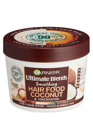 Garnier Ultimate Blends Hair Food Coconut Oil 3-in-1 Hair Mask Treatment for Curly Hair 390ml